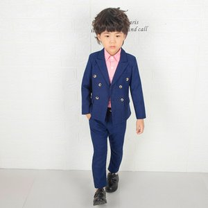 Flower Boys England Style Suits Gentle Boy Formal Costume High Quality Wedding Party Suit Kids Brazer Pants Clothing SetIF0O Deals