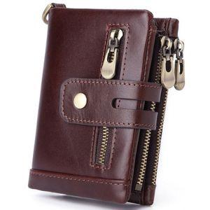 Man Purses Wallet Credit Designer For With Money Clip Genuine Leather SIM Card Holder Wedding Mens Pouch Coin Gifts Zipper Luxury Bjjum