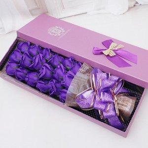 18 Adet Best hediyeler Kokulu Sabun Gül Banyosu Çiçek Bitki Esansiyel Yağı Gül Sabunu Seti ile Hediye BoxFor Lady Sevgililer Günü