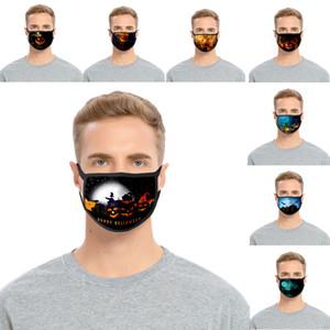 Halloween Mask 3D Pintura abóbora algodão reutilizável festiva Máscara Máscara Respirador Dustproof protecção lavável adulto