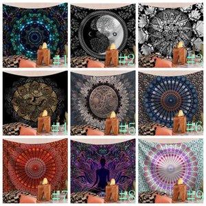 Гобелены Индийский Хиппи Bohemian Mandala Гобелены Psychedelic Peacock Printing Гобелен Спальня Гостиная Общежитие Home Decor DHC1500