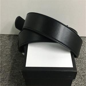 2020 Best-Selling-Qualitäts-Ledergürtel Männer und Frauen-Goldschnalle Silver Buckle Black Belts Kostenloser Versand Kasten