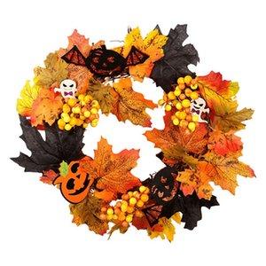 Botique-Halloween Garland Decoration Door Hanging Simulation Autumn Pumpkin for Party Wedding Christams