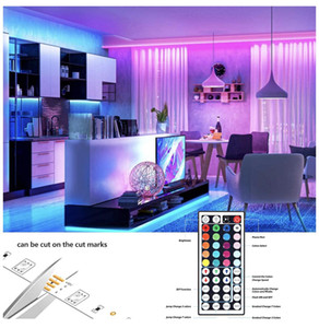 Vente chaude LED RGB Lights bande 16.4ft / 5M SMD 5050 DC12V flexible Bandes LED lumières 50LED / mètre 16Different Couleurs statiques