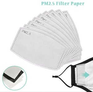 5 Layers Activated Carbon Filter PM2.5 Anti Dust Haze Mouth Masks Replaceable Filters For Activate Carbon Mask Anti Dust Filters OOA9041