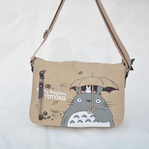 Gros- 2016 Anime Mon voisin Totoro Messenger sac en toile Sac à bandoulière Sling Pack Mon voisin Totoro cosplay Bag