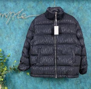 220FW Francês outono e inverno mais recente versátil moda no topo de cima para baixo do revestimento dos homens de alta qualidade cheia de reflexiva jaqueta de carta de impressão para baixo