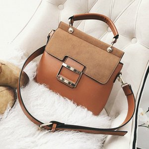 Women Bag Vintage Shoulder Bags 2020 Buckle PU Leather Handbags Crossbody Bags For Women Winter Sac Femme Temperament 5Knu#