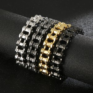 93g heavy 12mm 8.8'' choose color Punk fashion Motorcycle chain 316L stainless steel bracelet for men titanium Mens bicycle chain bangle