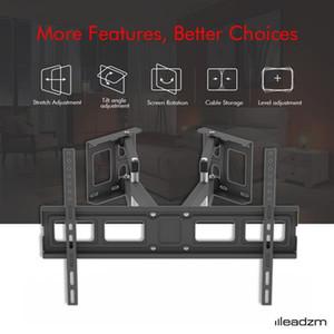 Einstellbare TV-Wandhalterung Swivel TV-Wandhalterung für 28-60 Zoll FlatCurved TVs, Schwenker Kippt Verlängert, Double Arm Full Motion TV-Wandhalterung