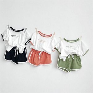 Baby Boy Girl Casual suit short-sleeved T-shirt+shorts 2019 summer new Children's clothing Kids Clothes Sets 2-8 years old