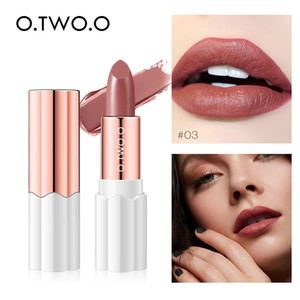 O.TWO.O Semi Velvet Lipstick Nude Rich Color Waterproof Moisturizing Long Lasting Lightweight Lips Makuep 12 Colors 9992