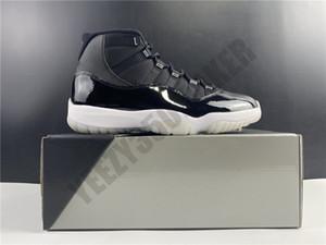 2020 25th Yıldönümü Jumpman 11 11 S Siyah Gümüş Gerçek Karbon Fiber Erkek Kadın Basketbol Ayakkabı Spor Sneakers Boyutu 5.5-13 CT8012-011