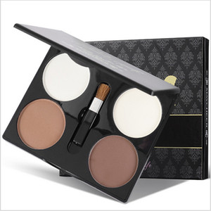 4 Color Repairing Powder High Gloss Powder Shadow Silhouette Face High Nose Beam Repair Beauty Glazed Eyeshadow Pallete Make Up