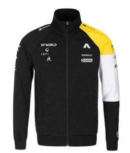 Inverno F1 Renault corsa abbigliamento personalizzato ventilatore auto maglione 2020 zip giacca giacca morbida più velluto a cavallo maglione zip
