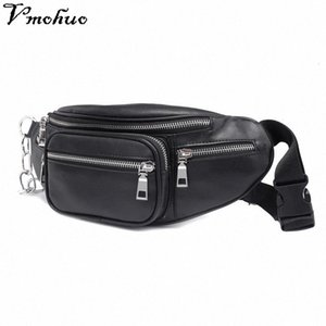 VMOHUO Zipper Waist Pack Bag Unisex PU Leather Shoulder Chest Bags Crossbody Bag Big Capacity Ladies Handbag Fanny Waist Packs iu81#