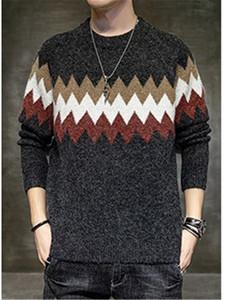 Mens ondulate modello di spessore Maglioni Designer O-Collo e Collo MANICA LUNGA maglia autunno-inverno Maglioni