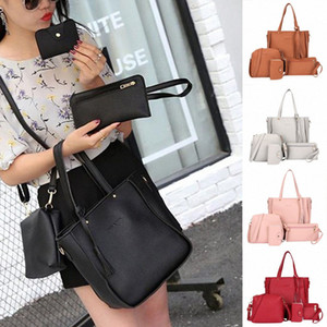 High Quality Affordable Woman Bag 2019 New Fashion Four Piece Shoulder Bag Messenger Wallet Handbag Dropshipping 20 QlpW#