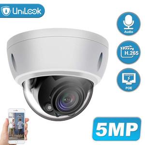 마이크 야외 보안 CCTV 카메라 비바람에 견디는 IP 66 IR의 30m 지원 ONVIF H.265 내장 UniLook 5MP 돔 POE IP 카메라