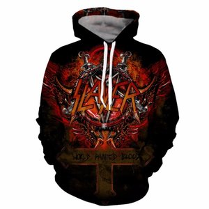 YOUTHUP Slayer Hoodies For Men 3d print Men's Hooded Sweatshirts 3d Pullover Hip Hop Rock Men Hoodies Streetwear Plus Size 5xl 200923