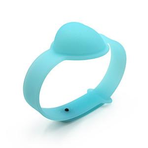 10ml Hand Sanitizer Silicone Pulseira de Pulso Heart Shaped Pulseira portátil Soap Dispensing Squeezy Strap anel Bangle jogo inteiro
