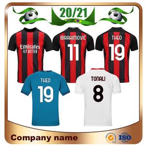 20/21 # 11 IBRAHIMOVIC maglia da calcio 2020 THEO REBIC camicia di calcio Paquetá TONALI ROMAGNOLI Calhanoglu CUTRONE Kessie football