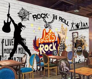 Europea 3D fotografía de fondo y pared de ladrillo bar de rock sonido KTV pared del fondo estadounidense decoración mural del papel pintado casa de lujo