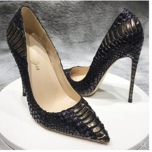 Real photo Fashion Women Pumps sexy lady Black Nude patent leather Point toe shoes pumps Stiletto heels boots bride wedding shoes 12 10 8cm