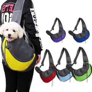 Portador del animal doméstico del bolso de hombro del perro casero de mano portátil transpirable mascota delantero del bolso de malla dirigen hacia fuera al aire libre del perrito de eslingas Carrier GWE1721