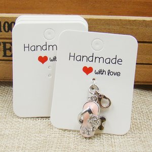 4*5cm 500pcs per lot white retangular paper printed small pendant cards custom kraft ring cards tag jewelry paper hang tag