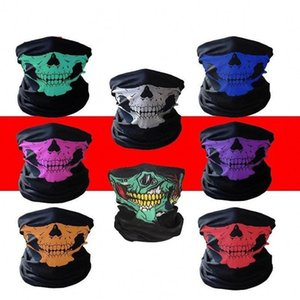 Envio de US Outdoor Seamless Lenço Crânio Versátil Magia Headband cachecol quente esqui Bandana Ciclismo Equitação Halloween Máscaras FY6096