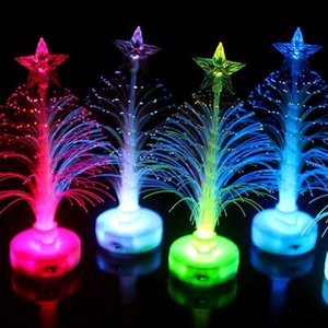 Led Семь T3i5403 Дерево Дерево модели Night Light Цвет Украшение Luminous Внутренний Внутренний Fiber свет лампы Рождество Цвет mx_home njvyN