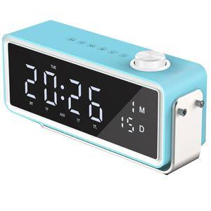 K5 Wireless Bluetooth Speaker FM Radio, LED Digital Display,Timer Alarm Clock with Snooze Function,USB Stick,USB TF AUX Connecti