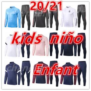 top 2020 2021 new real madrid tracksuit training tracksuits kids football kits 20 21 football training suit soccer tracksuit jogging jacket