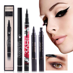 Natural Waterproof Eyeliner Pencil Long-lasting Eye Liner Pen Make Up Tool Eyeliner Stamp Template Stencil Eyebrow Tattoo Pencil