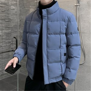 Man Tooling Down Padded Jacket Fashion Stand-up Collar Long Sleeve Solid Color Outerwear Designer Male Winter Loose Thick Warm Couple Coats