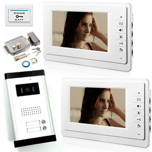 Yobang Security 7'' Flats Doorbell Apartments Houses Intercom Door Phone Video Talkable Access Control Lock Security Kits