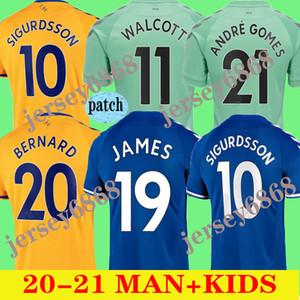 20 21 James Soccer Jerseys Calvert-Lewin Kean 2020 2021 Sigurdsson Richarlison Football Shirts Tosun Bernard Jersey