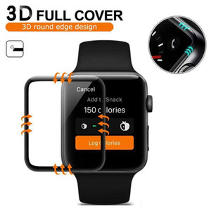 3D Curved Edge Full Screen Cover Tempered Glass Protector Protective for Apple Watch Series 5 4 3 2 1 40mm 44mm 38mm 42mm without retail