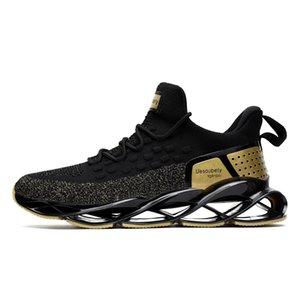 Nova Tendência Lâmina Calçados Damping lâmina de tênis de malha Sneakers para homens respirável Outdoor Sports Tennis Treinamento Desportivo