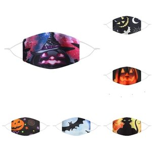 100PCS Halloween mask washable and reusable breathable and dustproof mask cartoon Funny print design mask 6style T500225