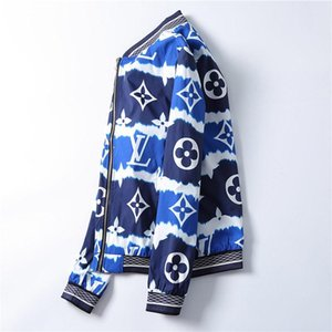 Nuovo modo di marca del rivestimento di inverno degli uomini Autunno Slim Fit Mens Designer giacca Zipper abiti rossi Men Casual Jacket Slim Plus Size M-3XL