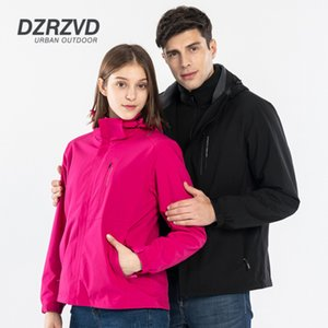 New Men Women Sport Coats Windbreaker Winter outdoor windproof waterproof 3 in 1 two-piece jacket camping hiking Ski outerwear