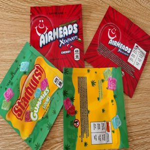 Corde Starburst Warheads Sacs d'emballage Sacs Preuve Dhl Odeur Airhea Medicated Gummies Sac bonbons sans 408mg Nerds Emballage Mylar vide sqcwl
