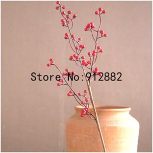 2020 Noel Kırmızı Meyve Şubesi Yapay Çiçek Kiraz Meyve Holly Dize Köpük Berry Simülasyon suni ağaç