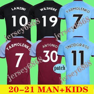 20 21 الغربية الرئيسية لكرة القدم بالقميص 2020 2021 المتحدة تشيتشاريتو HAM LANZINI ANTONIO F.ANDERSON قمصان كرة القدم AWAY