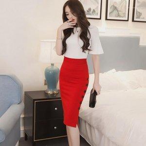 Größe Kleider Luxus Damen Kleid Deisgner dünne reizvolle Normallack-Rock Art und Weise Frauen Plus