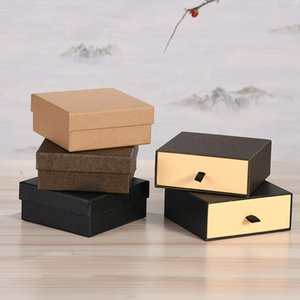 6pcs Jewelry Paper Gift Boxes Drawer Soap Paper Packaging Box Weeding Foavr Gift Candy Box Jewelry Set Storage Display Cases