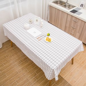 2020 New Woven Table Cloth PVC Waterproof Oilproof Anti-pollution Tablecloth Kitchen Decorative Rectangular Coffee Cuisine Tablecloth Map