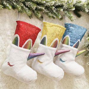 Weihnachten hängende Dekoration Weihnachtssocke Lustige Practical Hanging-Geschenk-Beutel-Socken-Candy Bag Obst für Kinder Xtmas